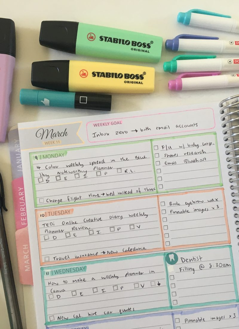 whistle and birch weekly spread all about planners
