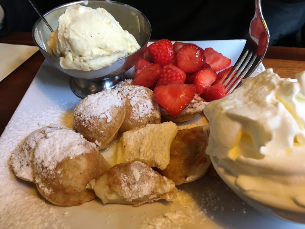 best poffertjes in amsterdam netherlands De Vier Pilaren near canal boat tour route foods to try first time in amsterdam