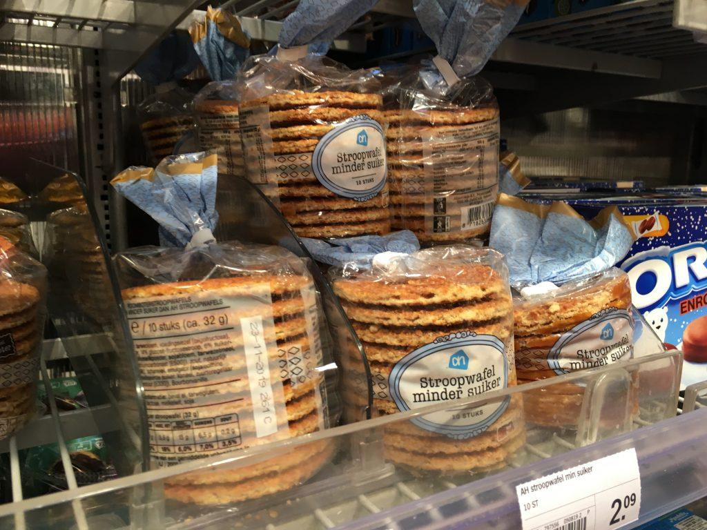 stroopwafel dutch foods to try when you visit amsterdam netherlands Albert heijn supermarket