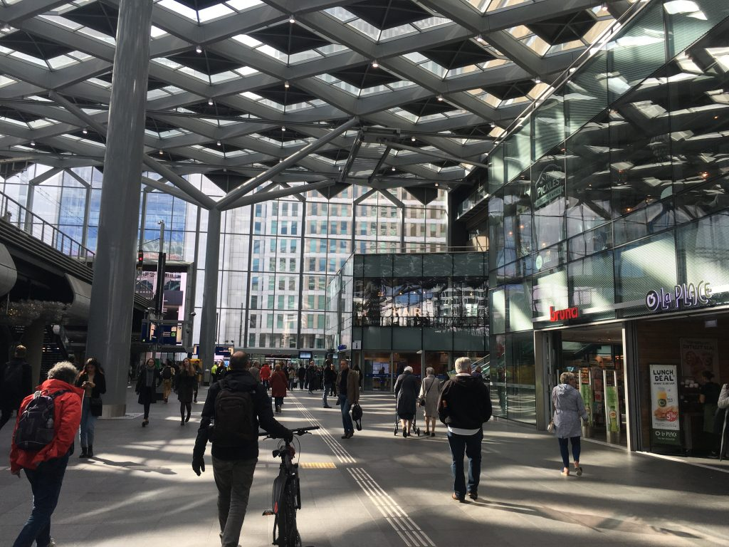 The Hague Den Haag modern train station how to do a half day trip there on the train from amsterdam