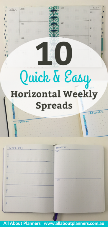 bullet journal horizontal weekly spread ideas layouts inspiration tips bujo simple quick and easy minimalist dot grid notebook newbie