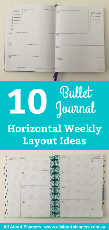 bullet journal horizontal weekly spread ideas layouts inspiration tips bujo simple quick and easy minimalist happy planner discbound bullet journal