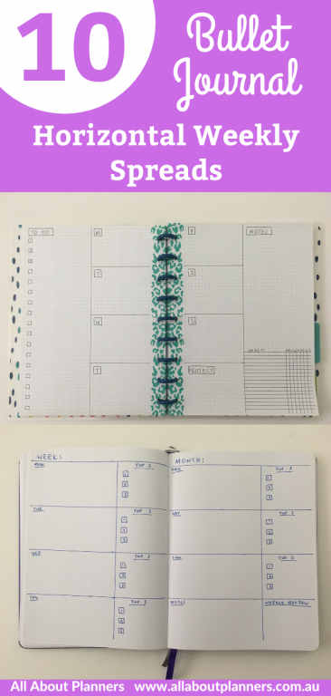 bullet journal minimalist weekly spread simple quick easy horizontal happy planner frixion pens artists loft dot grid notebook