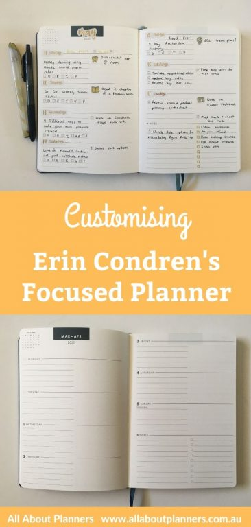 customising erin condren focused planner weekly spread black and gold them simple minimalist happy planner stickers similar planner to mi goals review