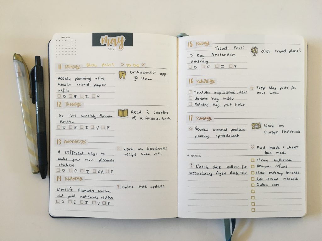 erin condren focused planner weekly spread hacking my ec gold weekly spread happy planner stickers simple_05