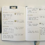 Gold themed weekly spread in the Erin Condren Focused Weekly Planner