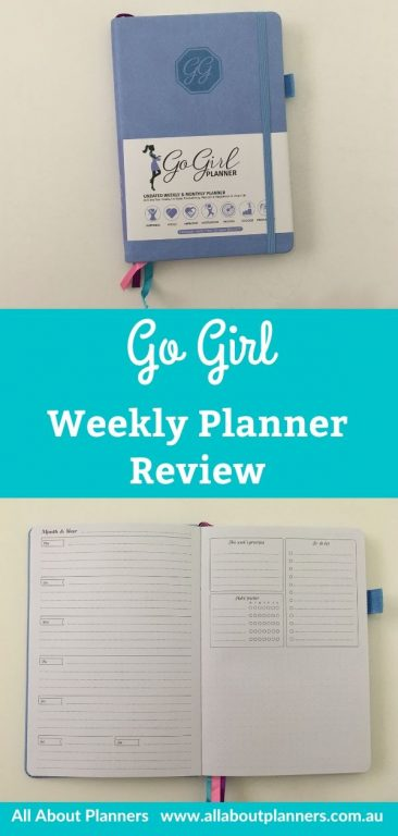 go girl weekly planner review pros and cons horizontal 1 page weekly planner to do list simple minimalist weekly habit tracker