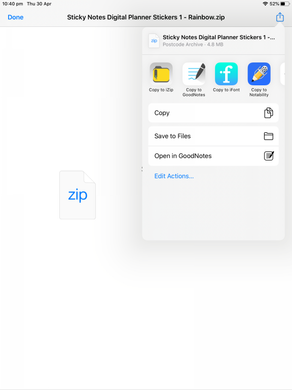 how to unzip zipped file folders on an ipad using izip free tool digital planner stickers printable use in goodnotes_02