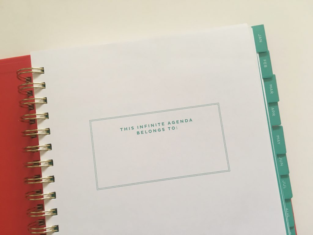 my infinite agenda weekly planner review pros and cons paper quality large page size 4 pages per week plenty of room to write unlined video flipthrough_04