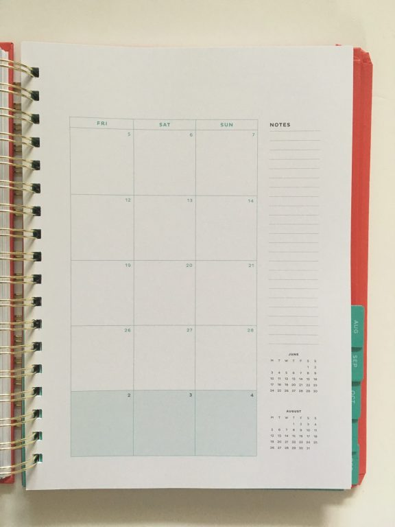 my infinite agenda weekly planner review pros and cons paper quality large page size 4 pages per week plenty of room to write unlined video flipthrough_18