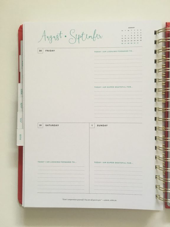my infinite agenda weekly planner review pros and cons paper quality large page size 4 pages per week plenty of room to write unlined video flipthrough_23