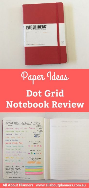paper ideas dot grid notebook review pros and cons pen testing paper quality ghosting bleed through cheaper alternative to the leuchtturm dupe cheap knock off