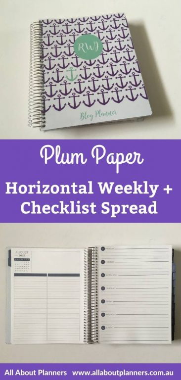 plum paper horizontal weekly spread review pros and cons video review neutral colorful