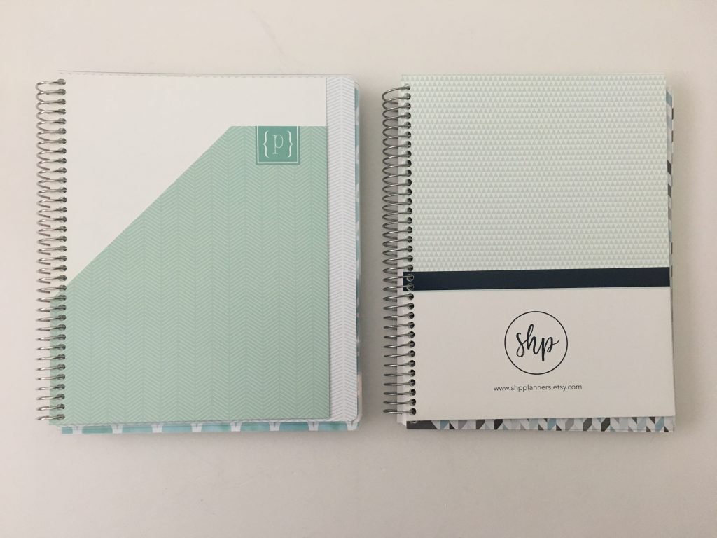 Plum Paper versus SHP Planner comparison weekly monthly spread price colors pros and cons video flipthrough pen test dupes cheaper alternative_16