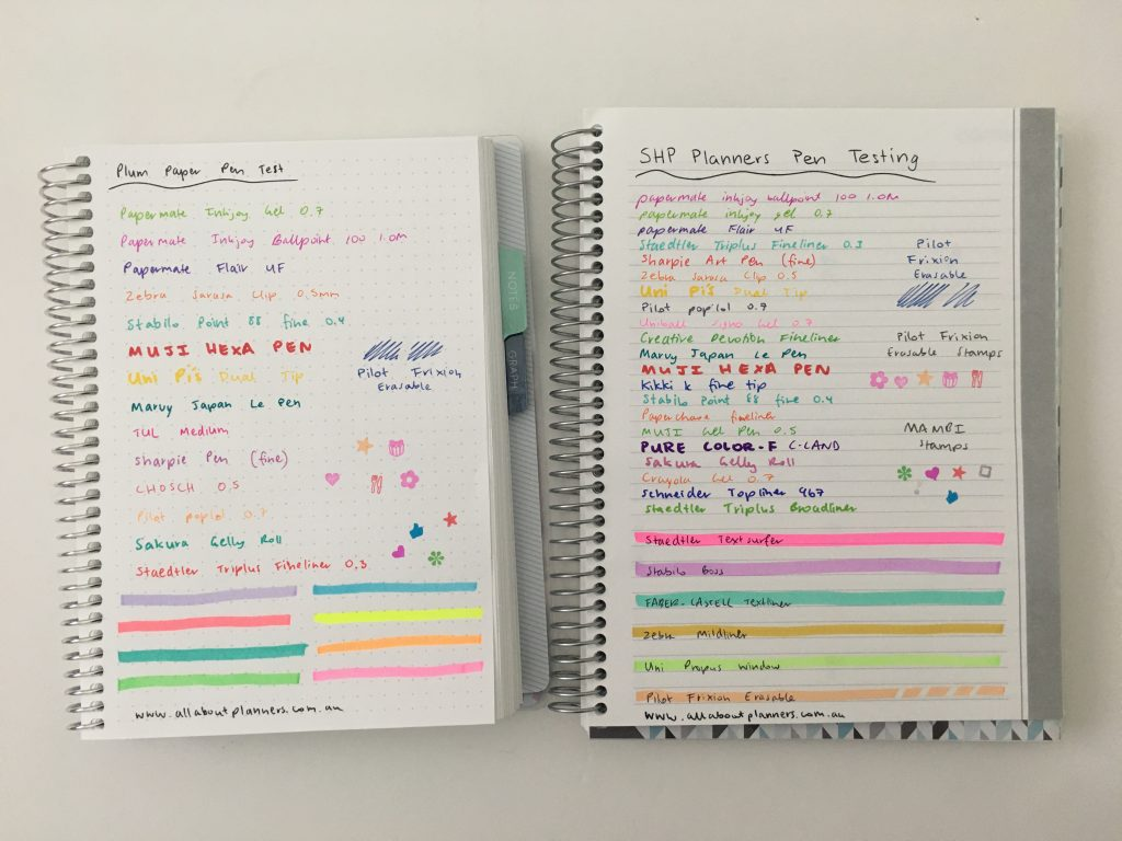 Plum Paper versus SHP Planner comparison weekly monthly spread price colors pros and cons video flipthrough pen test dupes cheaper alternative_20