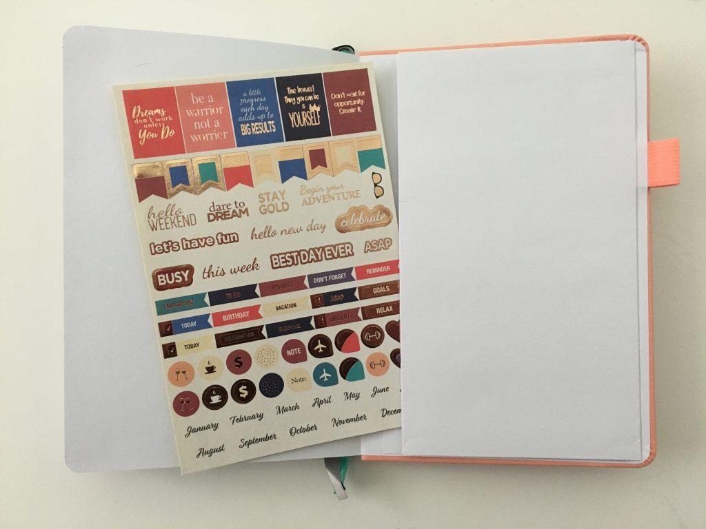 Puffin planner review undated weekly minimalist sv digital horizontal monday week start comibined weekend sewn bound lat flat stickers_15