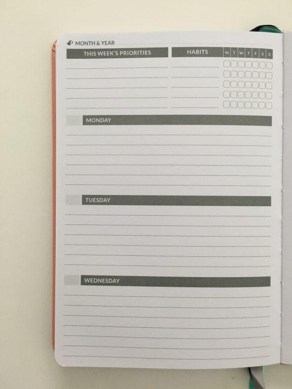 Puffin planner review undated weekly minimalist sv digital horizontal monday week start comibined weekend sewn bound lat flat stickers_20