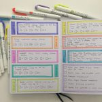 Testing Buke Stationery's 180 GSM thick paper with a Highlighter Heavy Weekly Spread