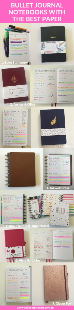 bullet journal notebooks with the best paper pen testing pros and cons smooth to write on bright white bujo recommendations tips newbie all about planners favorite