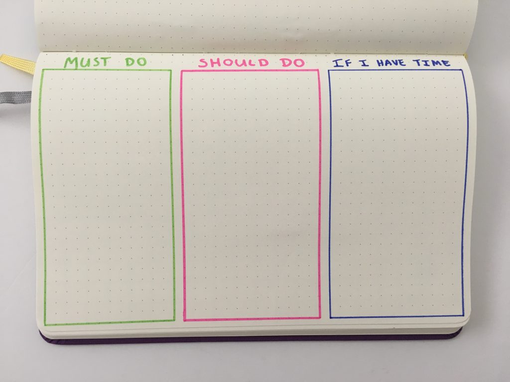 bullet journal to do list checklist page spread ideas must have bujo newbie monthly daily weekly useful must do should do if i have time