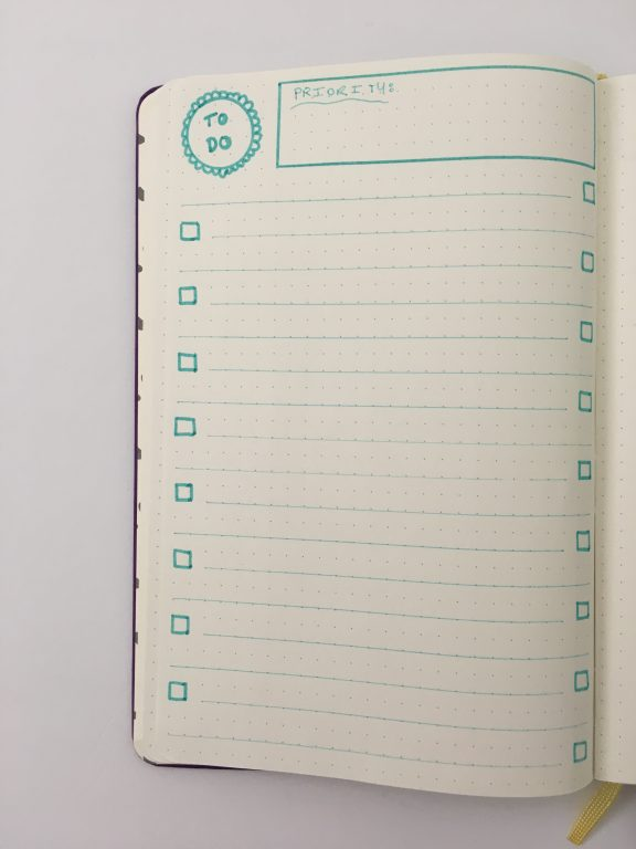 bullet journal to do list checklist page spread ideas must have bujo newbie monthly daily weekly useful productive list_03
