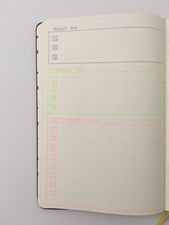 bullet journal to do list checklist page spread ideas must have bujo newbie monthly daily weekly useful productive list_05