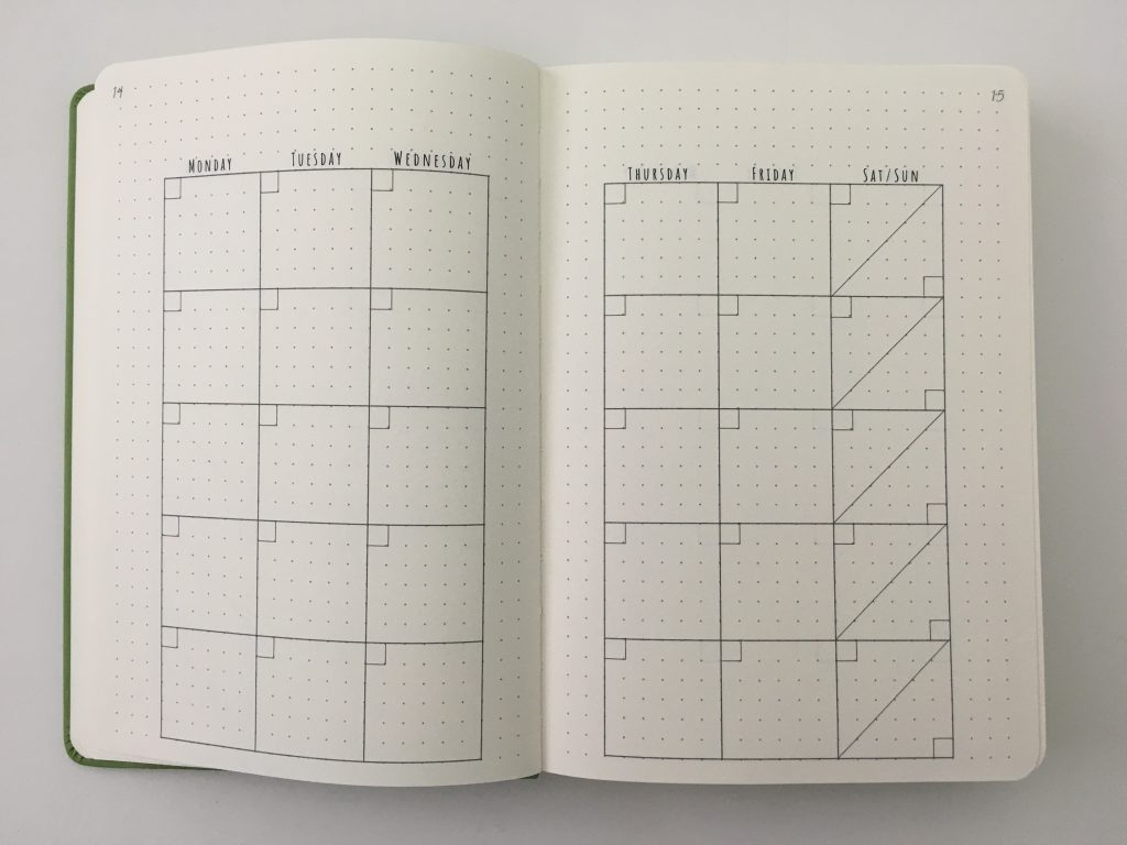 cloudberry journal dot grid planner review monthly spread key horizontal weekly monday start habit tracker minimalist pocket folder_08