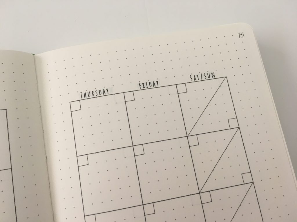 cloudberry journal dot grid planner review monthly spread key horizontal weekly monday start habit tracker minimalist pocket folder_10