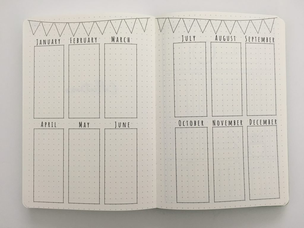 cloudberry journal dot grid planner review monthly spread key horizontal weekly monday start habit tracker minimalist pocket folder_18