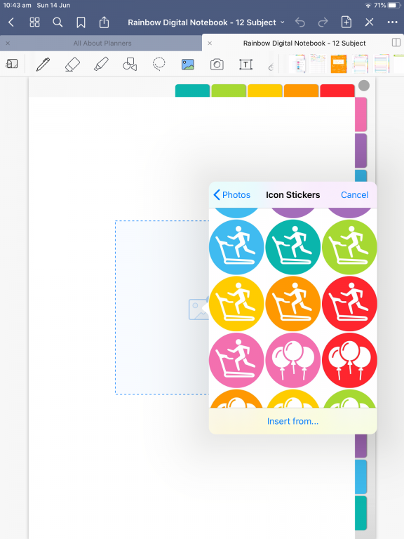 goodnotes digital planner how to add stickers individual PNG files tutorial with screenshots simple quick easy all about planners_02