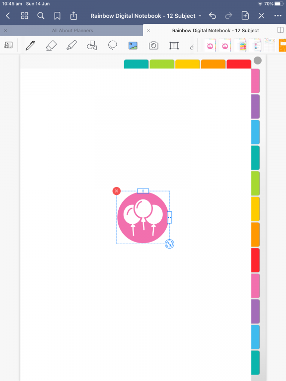 goodnotes digital planner how to add stickers individual PNG files tutorial with screenshots simple quick easy all about planners_05