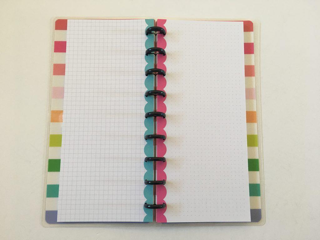 happy planner skinny classic half sheet weekly spread simple bullet journal graph dot grid paper_01