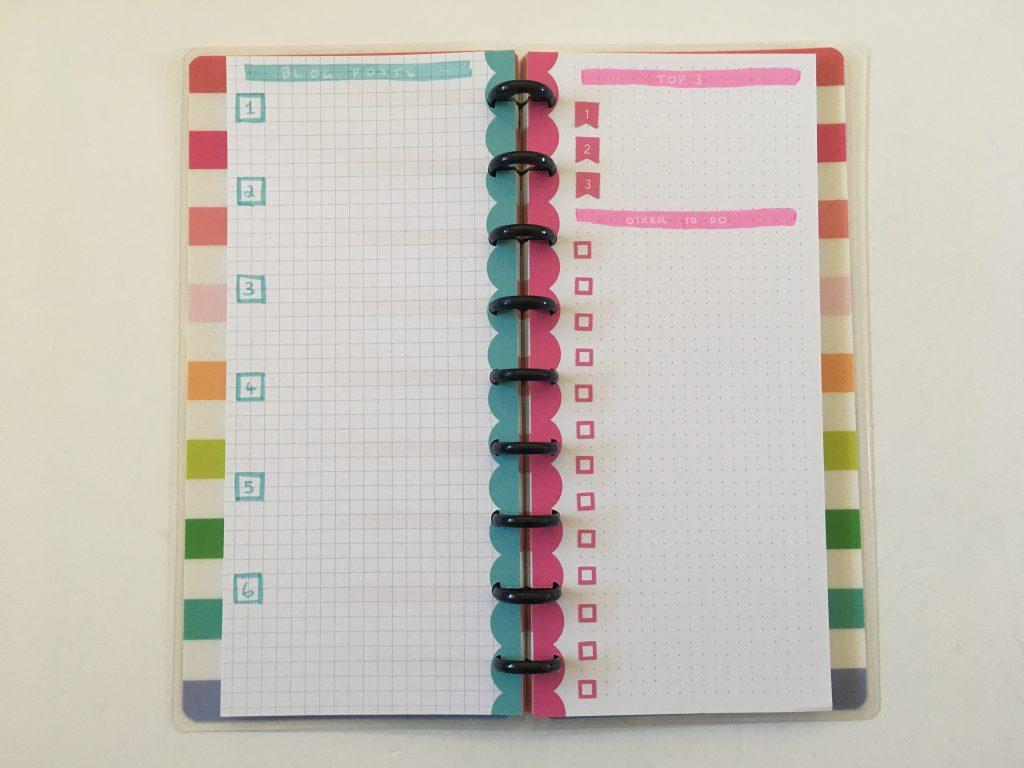 happy planner skinny classic half sheet weekly spread simple bullet journal graph dot grid paper_02