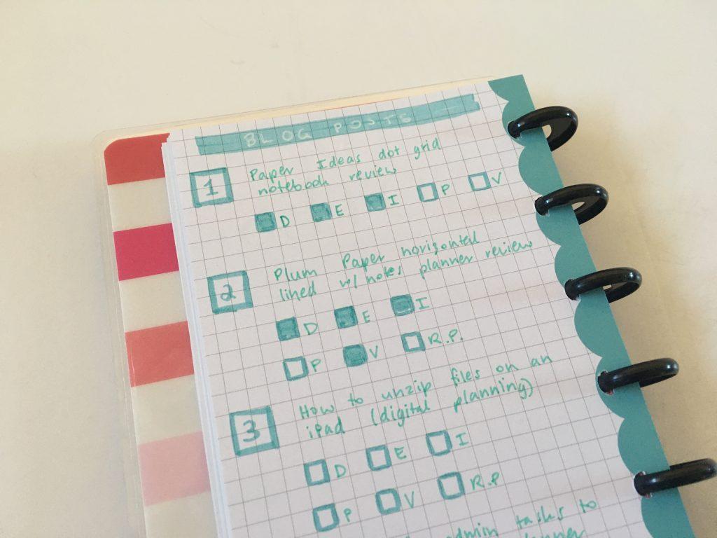 happy planner skinny classic half sheet weekly spread simple bullet journal graph dot grid paper_09