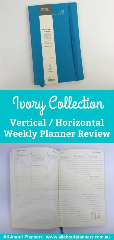 ivory collection weekly planner review vertical and horizontal layout monday week start minimalist european planner made in italy