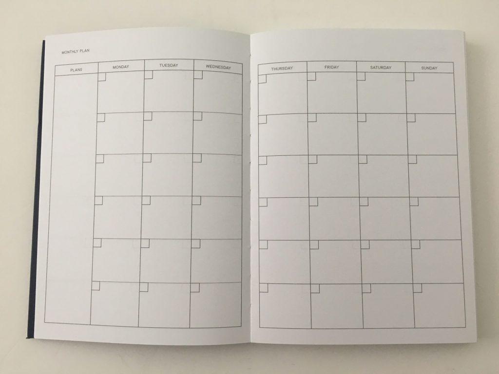 kmart weekly planner review 4 page spread monday start minimalist checklist lay flat binding under 10 dollars best australian planner cheap_02