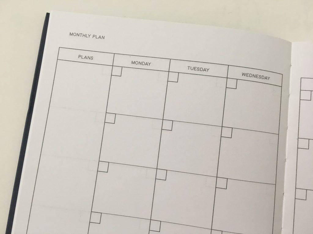 kmart weekly planner review 4 page spread monday start minimalist checklist lay flat binding under 10 dollars best australian planner cheap_03