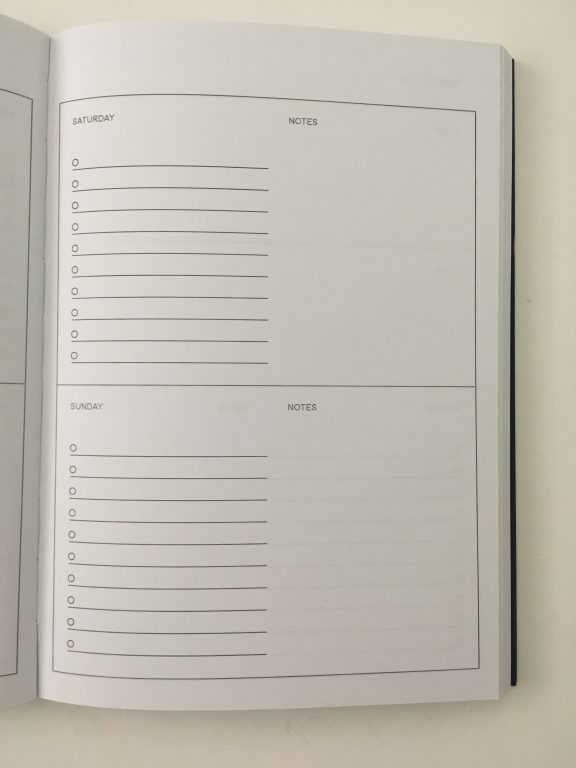 kmart weekly planner review 4 page spread monday start minimalist checklist lay flat binding under 10 dollars best australian planner cheap_06