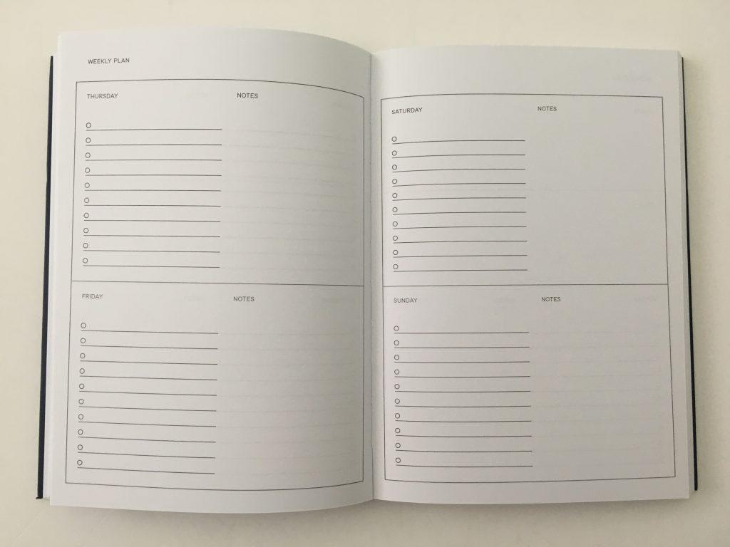 kmart weekly planner review 4 page spread monday start minimalist checklist lay flat binding under 10 dollars best australian planner cheap_07
