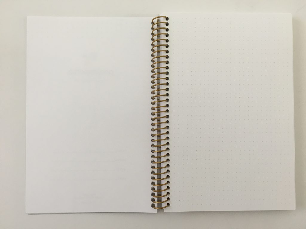 posy paper dot grid notebook review bullet journal personalised coil bound pretty pen testing bright white paper_05