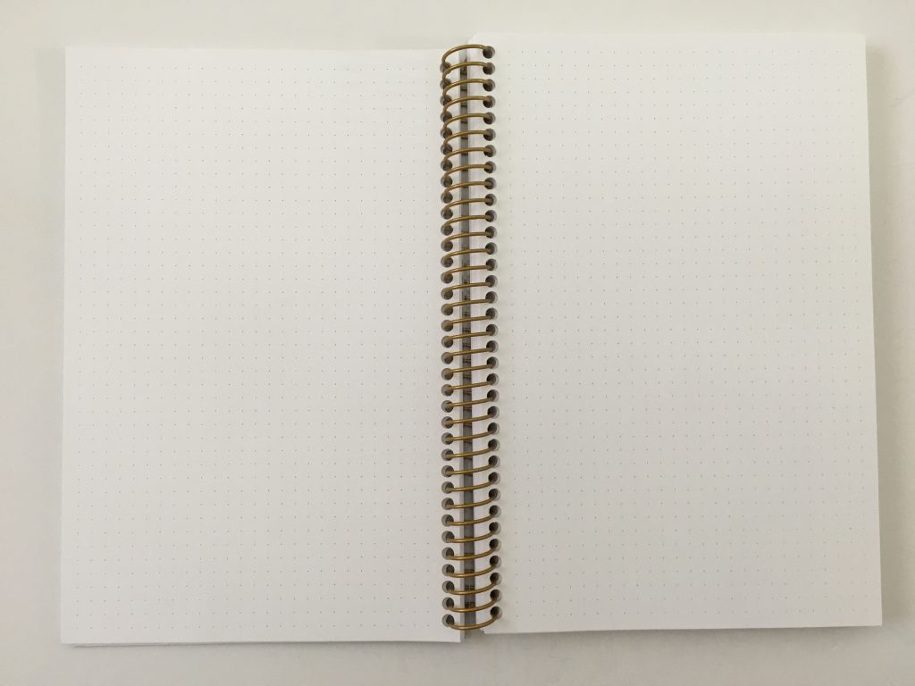 posy paper dot grid notebook review bullet journal personalised coil bound pretty pen testing bright white paper_06