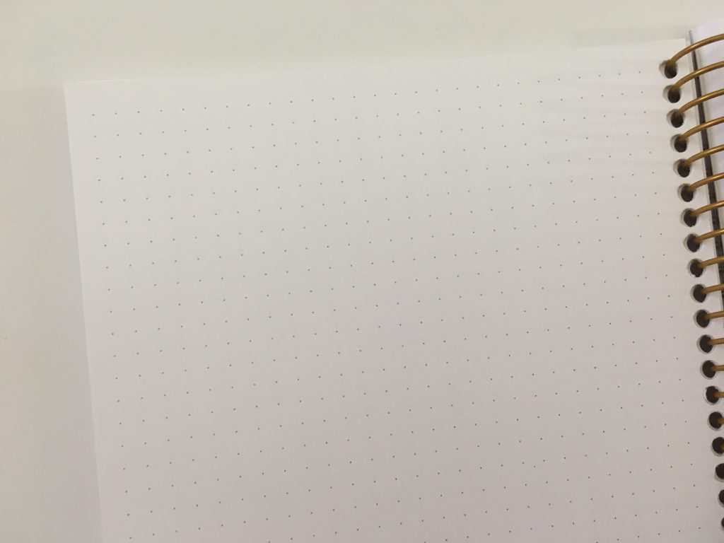 posy paper dot grid notebook review bullet journal personalised coil bound pretty pen testing bright white paper_07