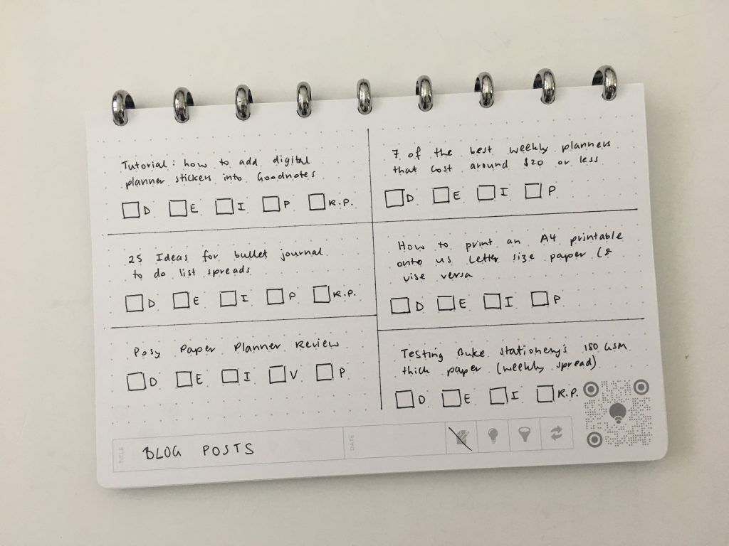 thinkers notebook dot grid lined bright white app student corporate discbound aluminium rings poly cover pros and cons review all about planners_01