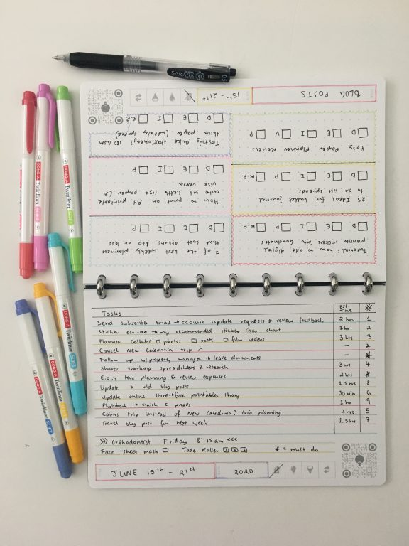 thinkers notebook dot grid lined bright white app student corporate discbound aluminium rings poly cover pros and cons review all about planners_12