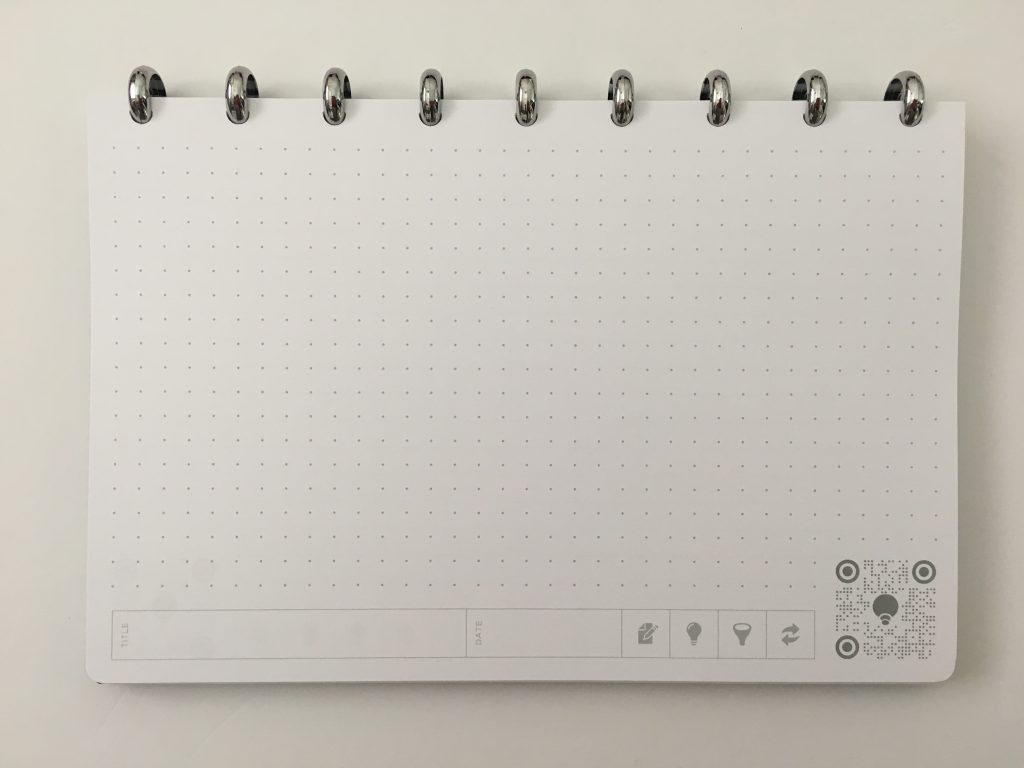 thinkers notebook dot grid lined bright white app student corporate discbound aluminium rings poly cover pros and cons review all about planners_17