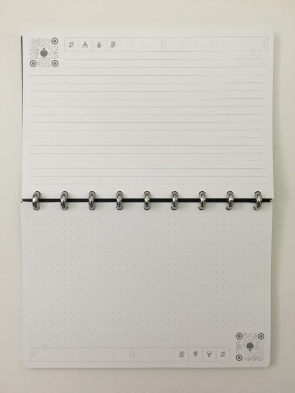 thinkers notebook dot grid lined bright white app student corporate discbound aluminium rings poly cover pros and cons review all about planners_19
