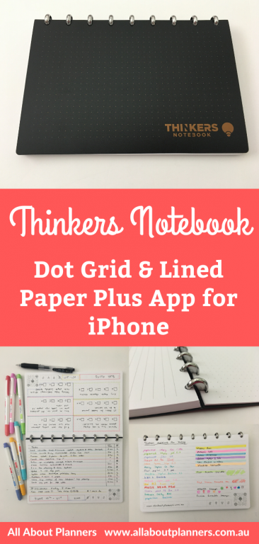 thinkers notebook review dot grid and lined paper pen testing ghosting bleed through trying it out with a weekly spread testing the app digital