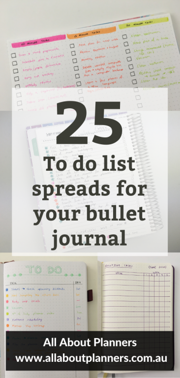 to do list spreads for your bullet journal simple layouts minimalist quick easy bujo newbie landscape portrait page orientation all about planners