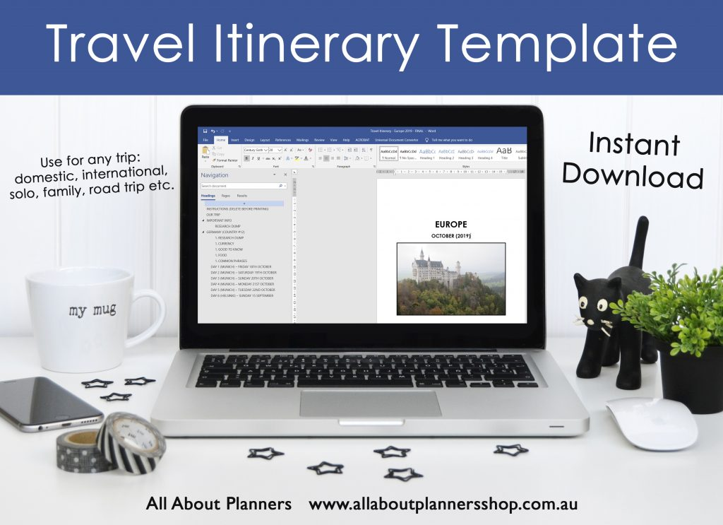 travel itinerary template microsoft word travel planner organizer detailed template multi-country destination planner all about planning favorite tools resource to plan your next trip