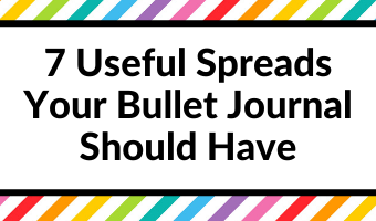 7 useful spreads your bullet journal should have